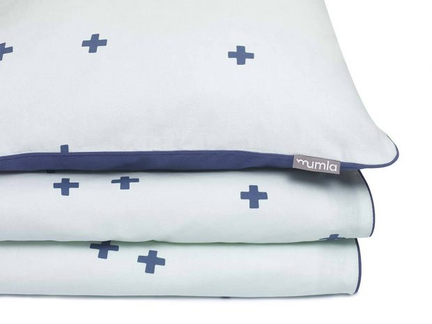 bedding set mint crosses - MUMLA