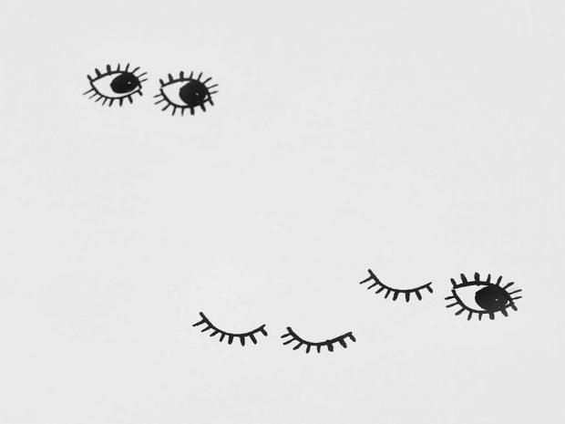 posciel oczy mumla
