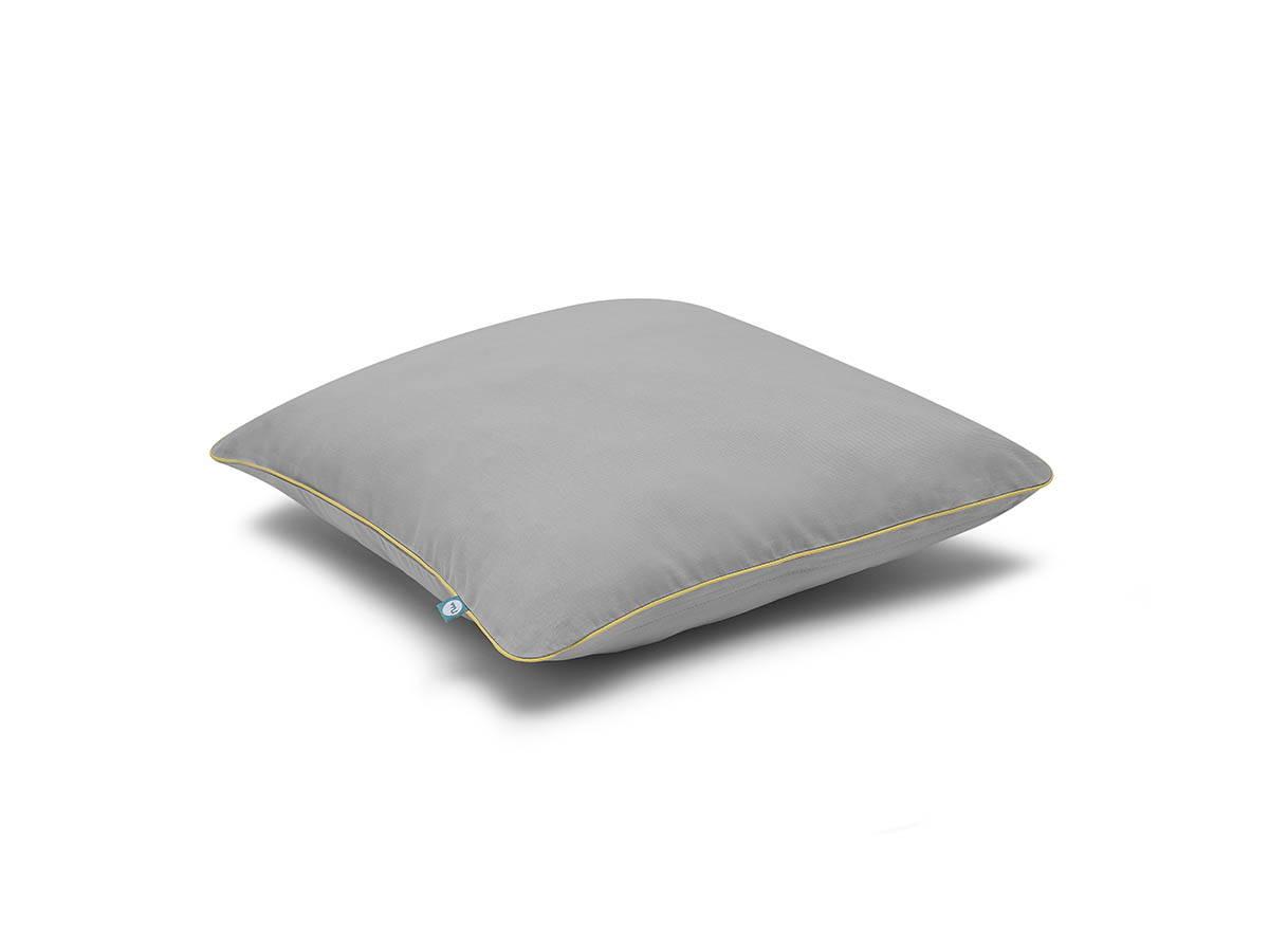 poduszka basic szary zółty