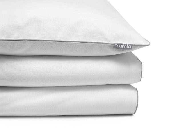 bedding set basic white grey - MUMLA