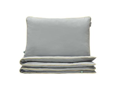 bedding set basic grey yellow - MUMLA