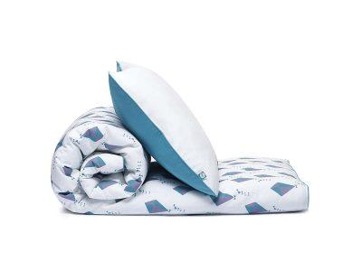 bedding set kites turquoise - MUMLA