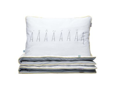 bedding set letters grey - MUMLA