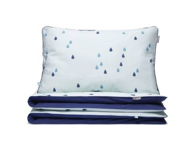 bedding set mint raindrops - MUMLA