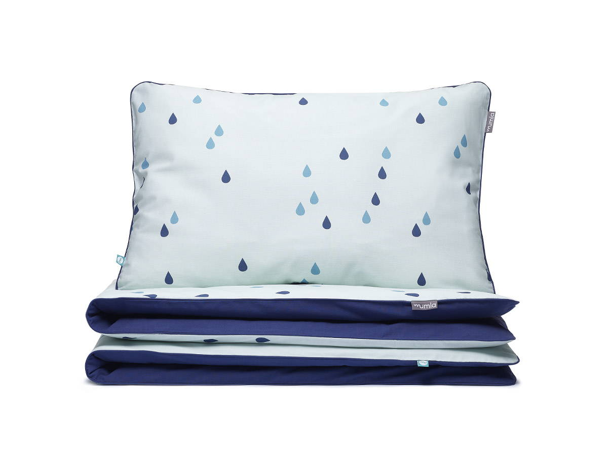 bedding set mint raindrops - MUMLA