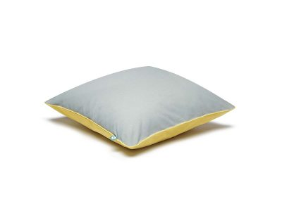 cushion grey yellow-mumla