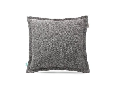 decorative pillow case HERRINGBONE light grey---MUMLA