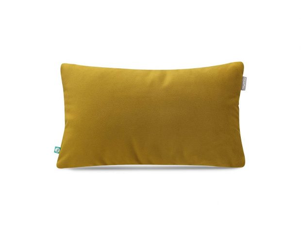 decorative pillow case velour yellow--MUMLA