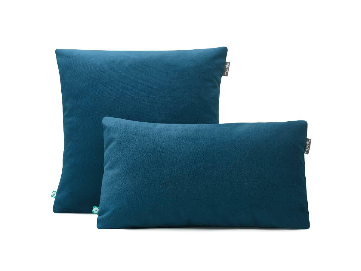 Velour Throw Pillows : decorative pillow case VELOUR blue MUMLA