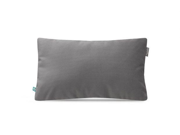 decorative pillow case velour grey--MUMLA