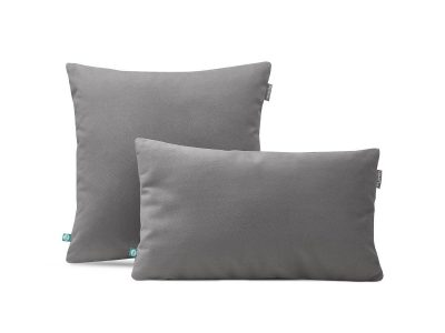 decorative pillow case velour grey--MUMLA
