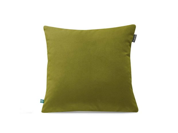 Green decorative velour pillow case---MUMLA