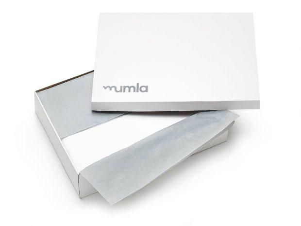 bedding set LUX white pinstripes - MUMLA
