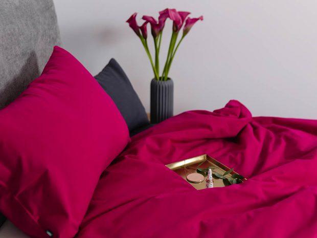 styl glamour w sypialni