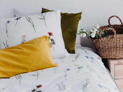 pościel zielnik MUMLA styl rustykalny w sypialni Styl prowansalski w sypialni