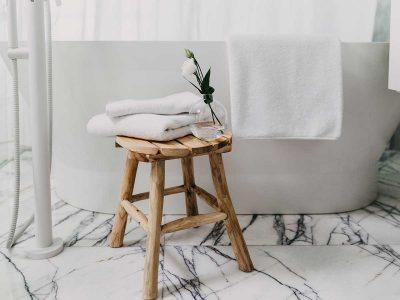 ręcznik bawełniany biały - MUMLA - 001 ręcznik biały bawełniany