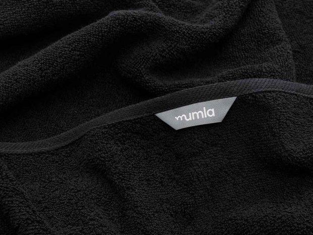 ręcznik bawełniany czarny - MUMLA