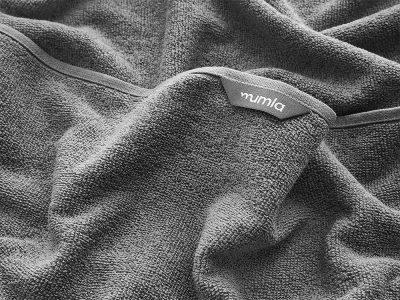 ręcznik bawełniany szary light - MUMLA