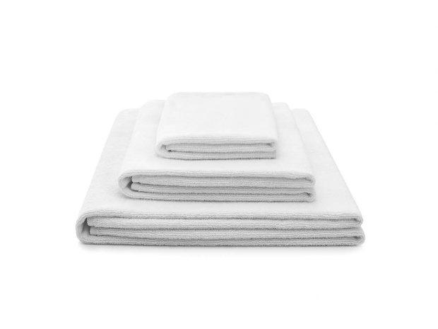 ręcznik bawełniany biały light zestaw - MUMLA