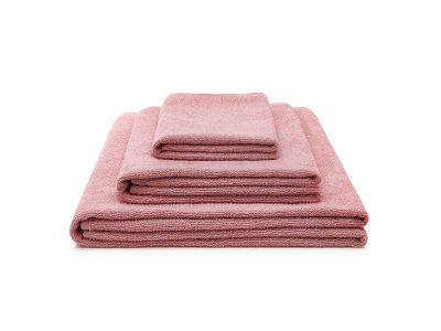 ręcznik bawełniany różowy light zestaw - MUMLA